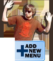 Travis wants to help you add a new menu